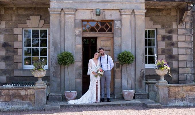 Couple outside Gilmerton House