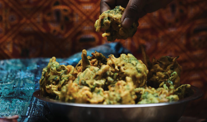 babu kitchen spinach and onion pakora