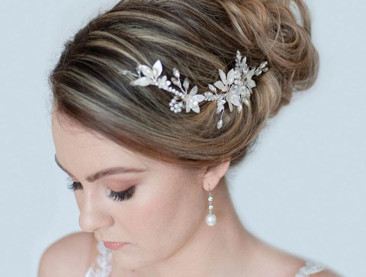 Gardenia hair clip by Accessories by Elizabeth Wallace