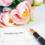 wedding-calendar-with-flower-on-it
